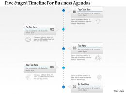 1214 Five Staged Timeline For Business Agendas PowerPoint Template
