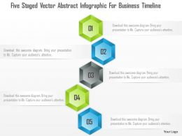 1214 Five Staged Vector Abstract Infographic For Business Timeline PowerPoint Template
