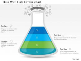 1214 Flask With Data Driven Chart Powerpoint Slide