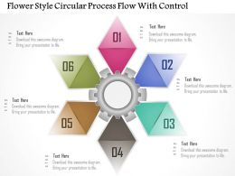 1214 Flower Style Circular Process Flow With Control Powerpoint Template
