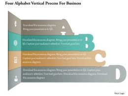 1214 Four Alphabet Vertical Process For Business Powerpoint Template