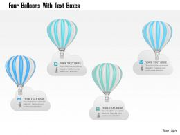1214 Four Balloons With Text Boxes Powerpoint Template