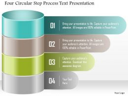1214 Four Circular Step Process Text Presentation Powerpoint Template