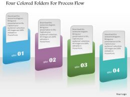 1214 Four Colored Folders For Process Flow Powerpoint Template