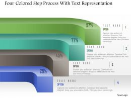 1214 Four Colored Step Process With Text Representation Powerpoint Template