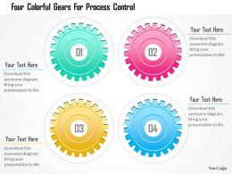 1214 Four Colorful Gears For Process Control Powerpoint Template