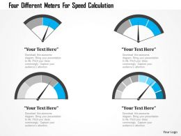 1214 Four Different Meters For Speed Calculation Powerpoint Template