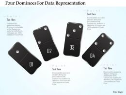 1214 Four Dominoes For Data Representation Powerpoint Template