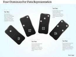 1214_four_dominoes_for_data_representation_powerpoint_template_Slide01