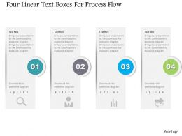 1214 Four Linear Text Boxes For Process Flow Powerpoint Template
