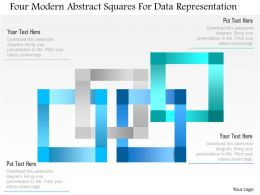 1214 Four Modern Abstract Squares For Data Representation Powerpoint Template
