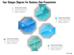 1214 Four Octagon Diagram For Business Data Presentation Powerpoint Template