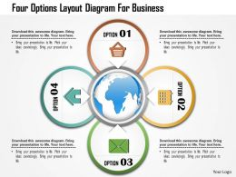 1214 Four Options Layout Diagram For Business PowerPoint Template