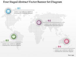 1214 Four Staged Abstract Vector Banner Set Diagram Powerpoint Template
