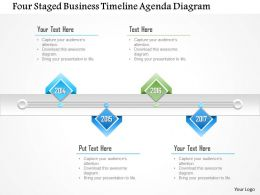 1214 Four Staged Business Timeline Agenda Diagram PowerPoint Template