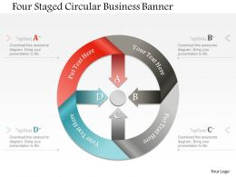 1214 Four Staged Circular Business Banner Powerpoint Template