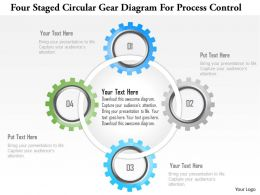 1214_four_staged_circular_gear_diagram_for_process_control_powerpoint_template_Slide01