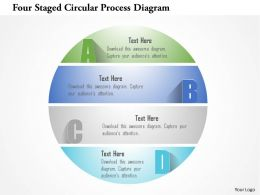 1214 Four Staged Circular Process Diagram Powerpoint Template