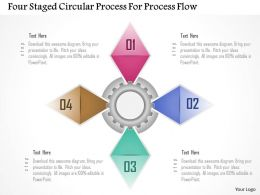1214 Four Staged Circular Process For Process Flow Powerpoint Template