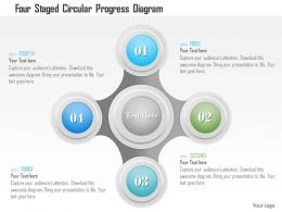 1214 Four Staged Circular Progress Diagram Powerpoint Template