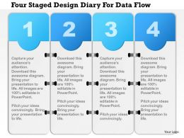 1214 Four Staged Design Diary For Data Flow PowerPoint Presentation
