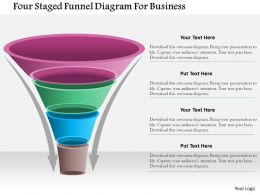 1214 Four Staged Funnel Diagram For Business Powerpoint Template