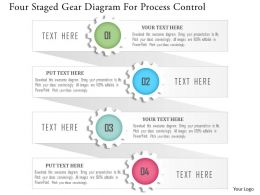 1214 Four Staged Gear Diagram For Process Control Powerpoint Template