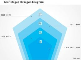 1214 Four Staged Hexagon Diagram PowerPoint Template