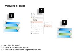 1214 Four Staged Horizontal Process Flow Diagram Powerpoint Template