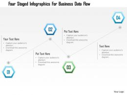 1214 Four Staged Infographics For Business Data Flow Powerpoint Template