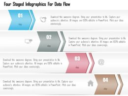 1214 Four Staged Infographics For Data Flow Powerpoint Template