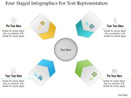 1214 Four Staged Infographics For Text Representation Powerpoint Template