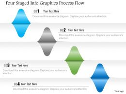 1214 Four Staged Infographics Process Flow Powerpoint Template