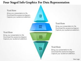 1214 Four Staged Ingographics For Data Representation Powerpoint Template