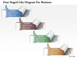 1214 Four Staged Like Diagram For Business Powerpoint Template