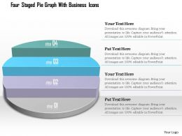 1214 Four Staged Pie Graph With Business Icons Powerpoint Template