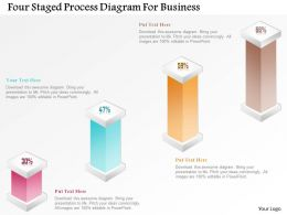 1214 Four Staged Process Diagram For Business Powerpoint Template