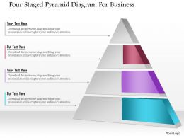 1214 Four Staged Pyramid Diagram For Business Powerpoint Template