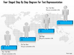 1214 Four Staged Step By Step Diagram For Text Repreesentation Powerpoint Template