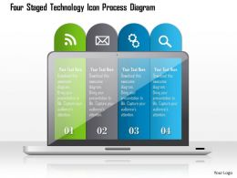 1214 Four Staged Technology Icon Process Diagram Powerpoint Template