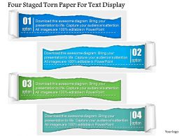 1214 Four Staged Torn Paper For Text Display Powerpoint Template