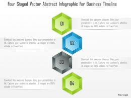 1214 Four Staged Vector Abstract Infographic For Business Timeline PowerPoint Template