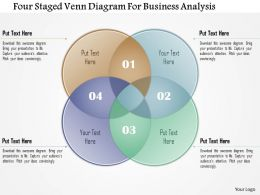 1214 Four Staged Venn Diagram For Business Analysis Powerpoint Template