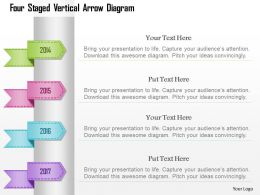 1214 Four Staged Vertical Arrow Diagram Powerpoint Template