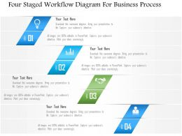 1214 Four Staged Workflow Diagram For Business Process PowerPoint Template