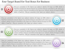 1214 Four Target Board For Text Boxes For Business Powerpoint Template
