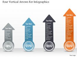 1214 Four Vertical Arrows For Infographics Powerpoint Template