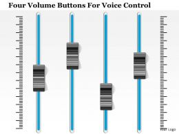 1214 Four Volume Buttons For Voice Control PowerPoint Template
