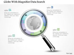 1214 Globe With Magnifier Data Search Powerpoint Template