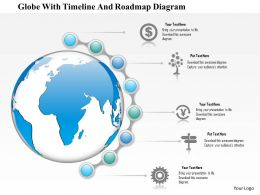1214 Globe With Timeline And Roadmap Diagram PowerPoint Presentation